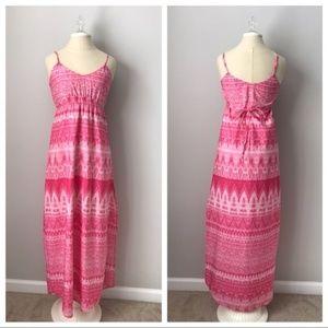 Charlie Jade Maxi Dress Pink Sleeveless XS
